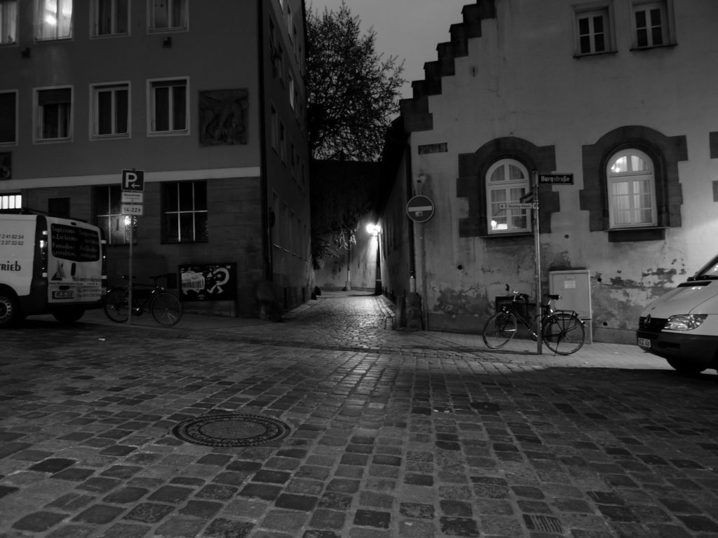 Nuremberg night streetscape